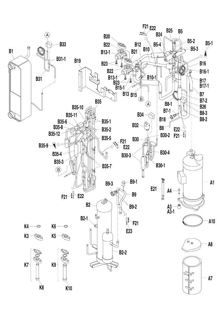 Daikin Air Conditioning Spare Part Compressor 1700721 JT1G